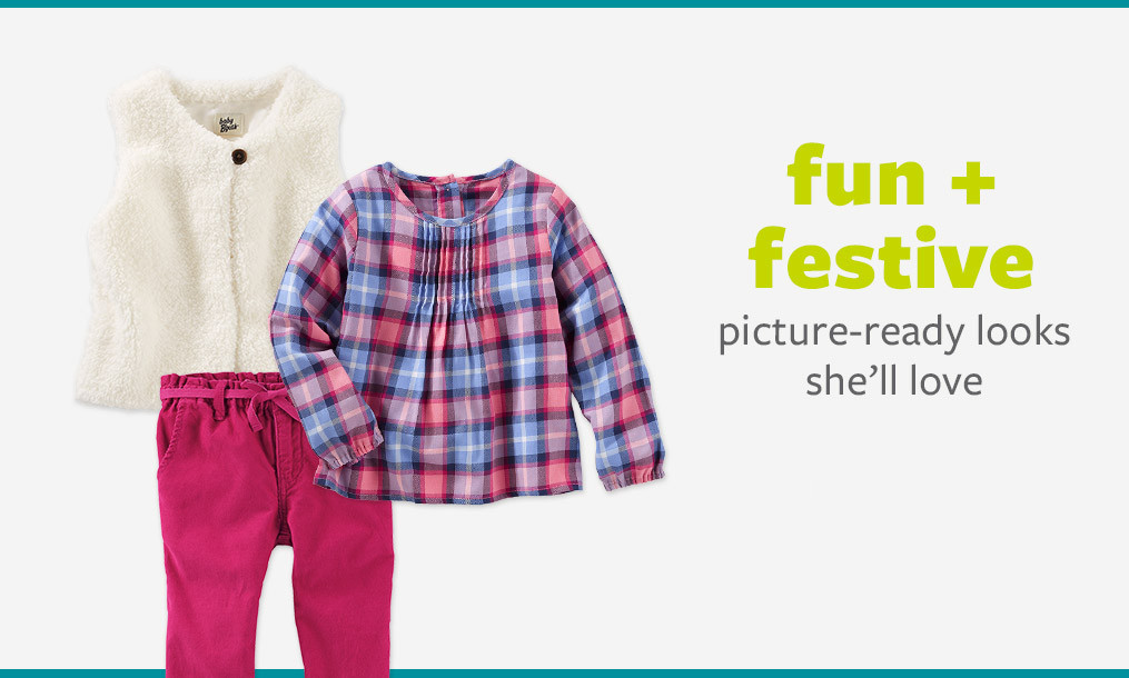 fun + festive - picture-ready looks she'll love