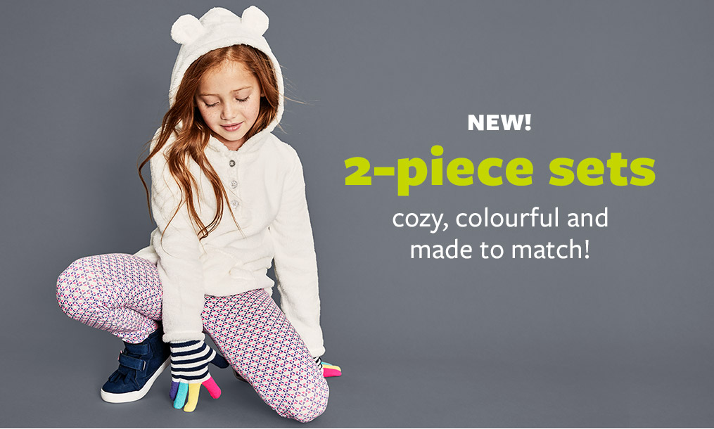 NEW! 2-piece sets - cozy, colourful and made to match!