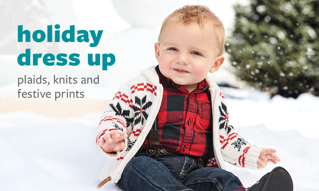 holiday dress up - plaids, knits and festive prints