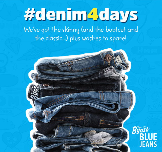 #denim4days | We've got the skinny (and the bootcut and the classic...) plus washes to spare!