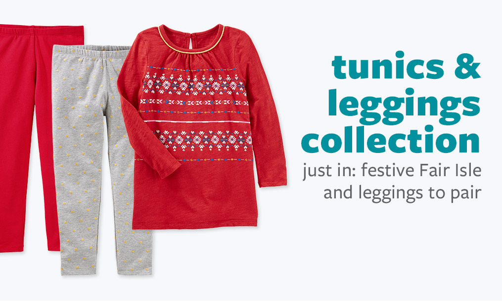 tunics & leggings collection - just in: festive Fair Isle and leggings to pair