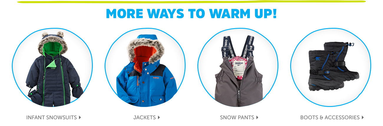 MORE WAYS TO WARM UP!
