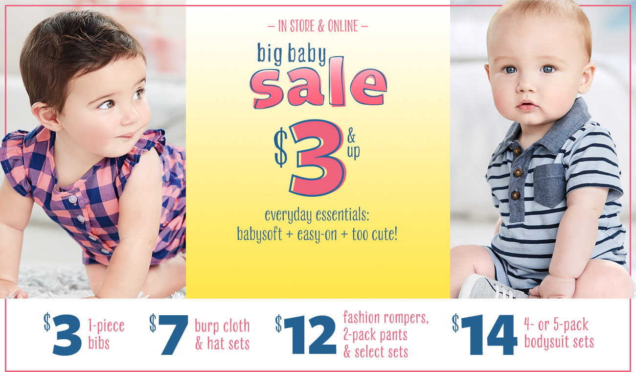 Big Baby Sale from $3 + 25% off Sleepwear @ Carter's