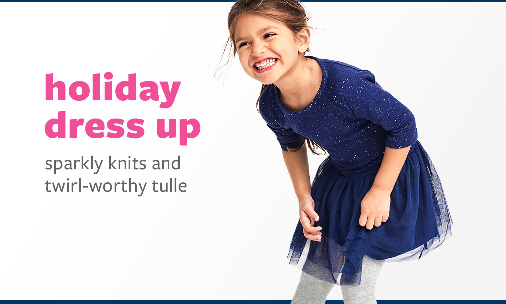 holiday dress up - sparkly knits and twirl-worthy tulle