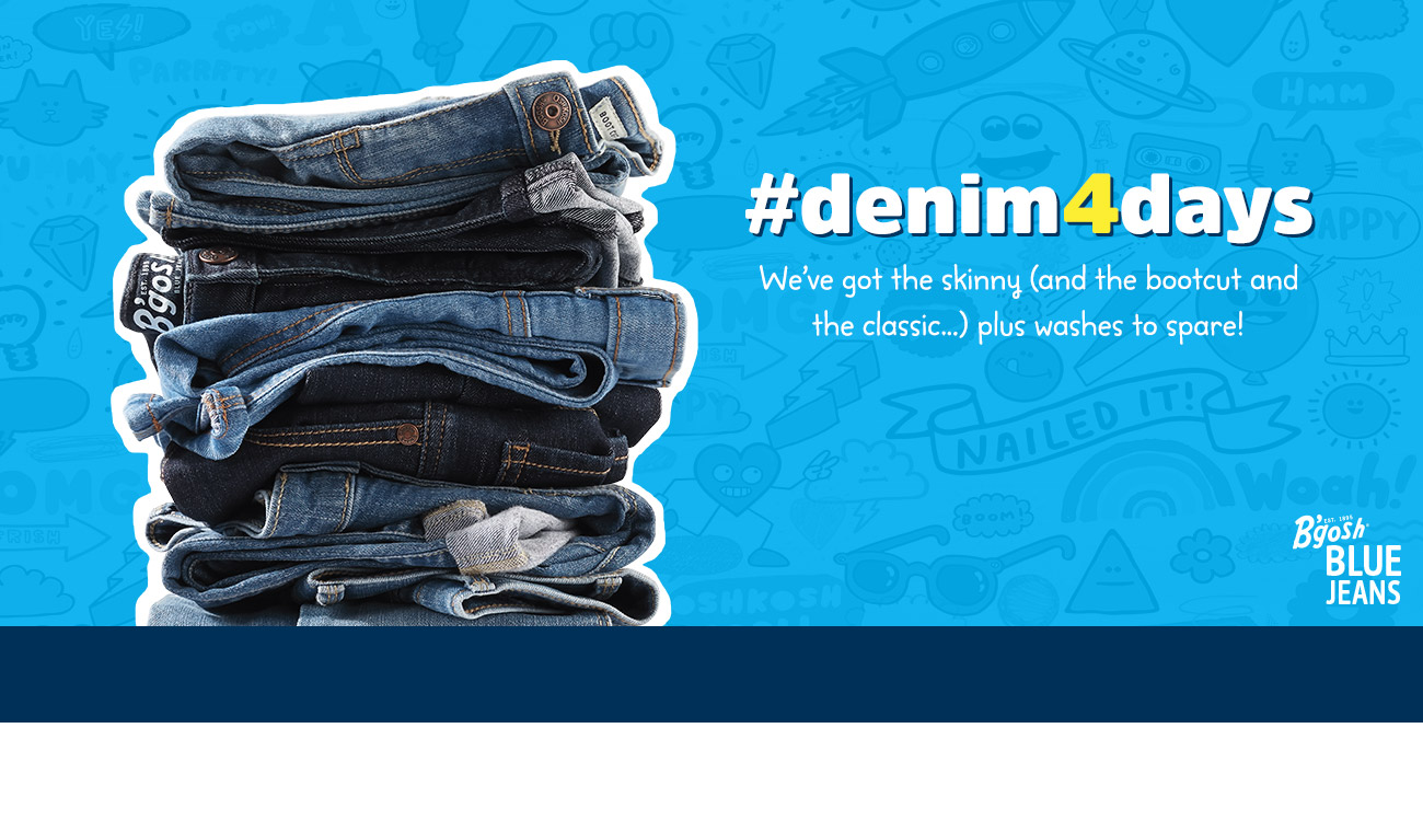 #denim4days | What fits will they need this year? We've got the skinny (and the bootcut and the classic...) plus washes to spare!