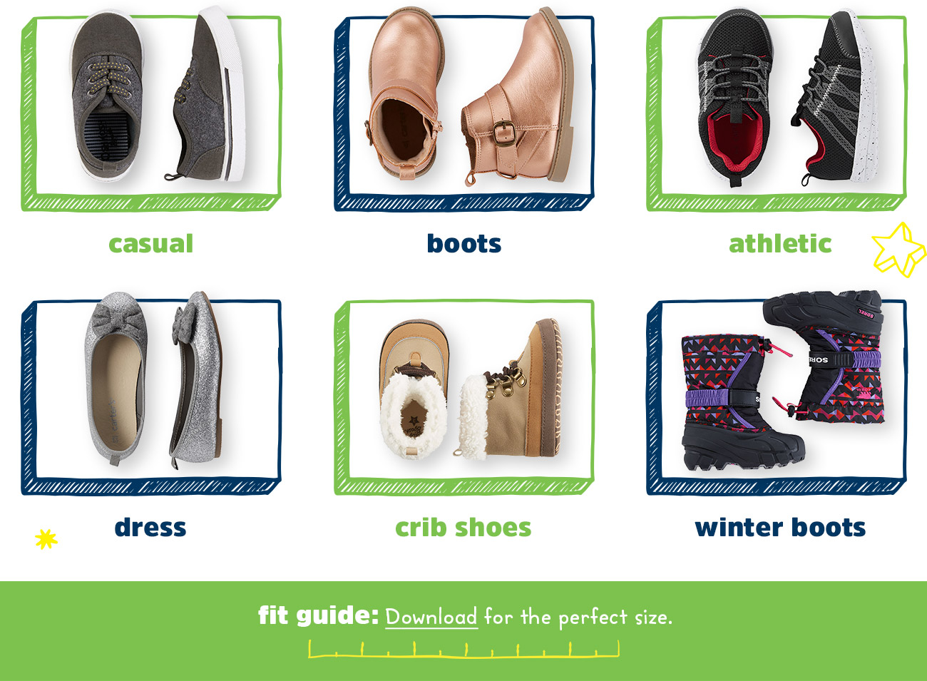 Casual - Boots - Athletic - Dress - Crib Shoes - Winter Boots