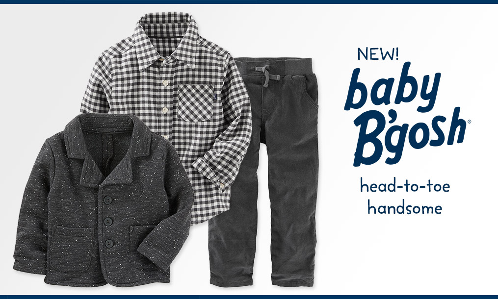 New! Baby B'Gosh - head-to-toe handsome