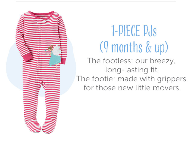 1-Piece Pjs (12 months and up)