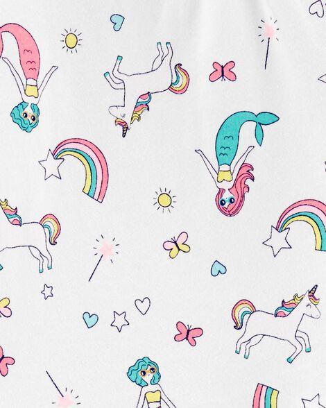 Mermaids & Unicorns Ruffle Jersey Tee