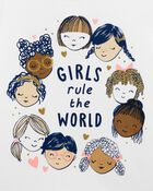 Girls Rule The World Jersey Tee, , hi-res