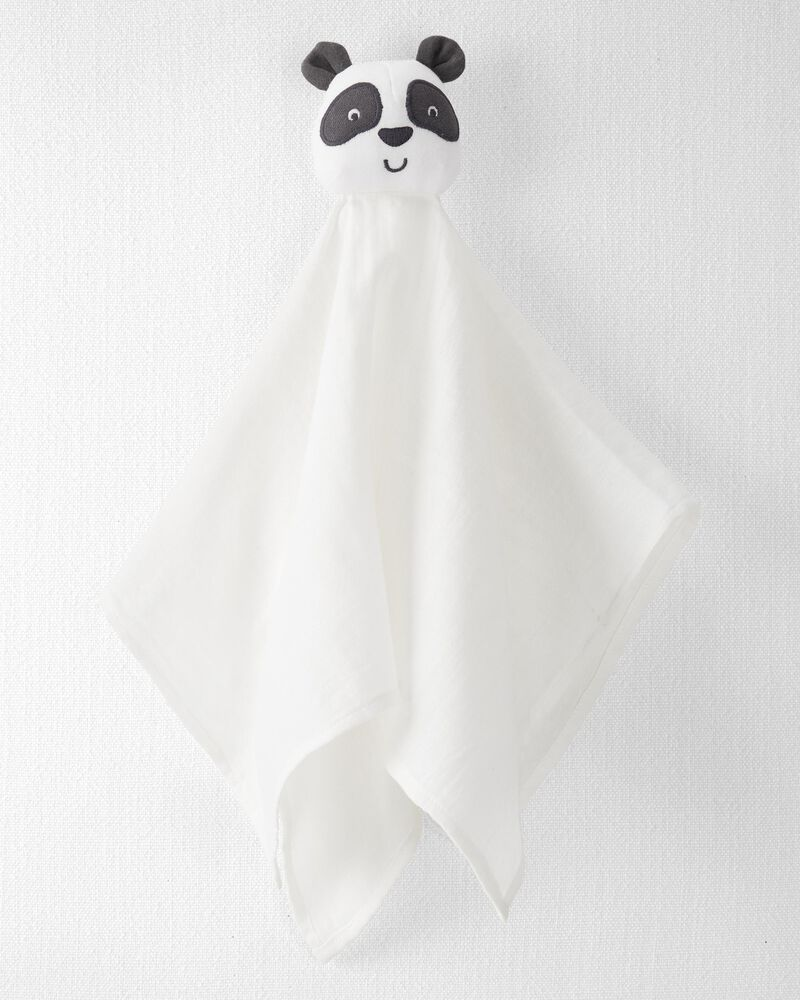 Organic Cotton Muslin Panda Lovie, , hi-res