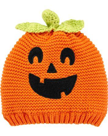 Halloween Jack-O-Lantern Crochet Ha...