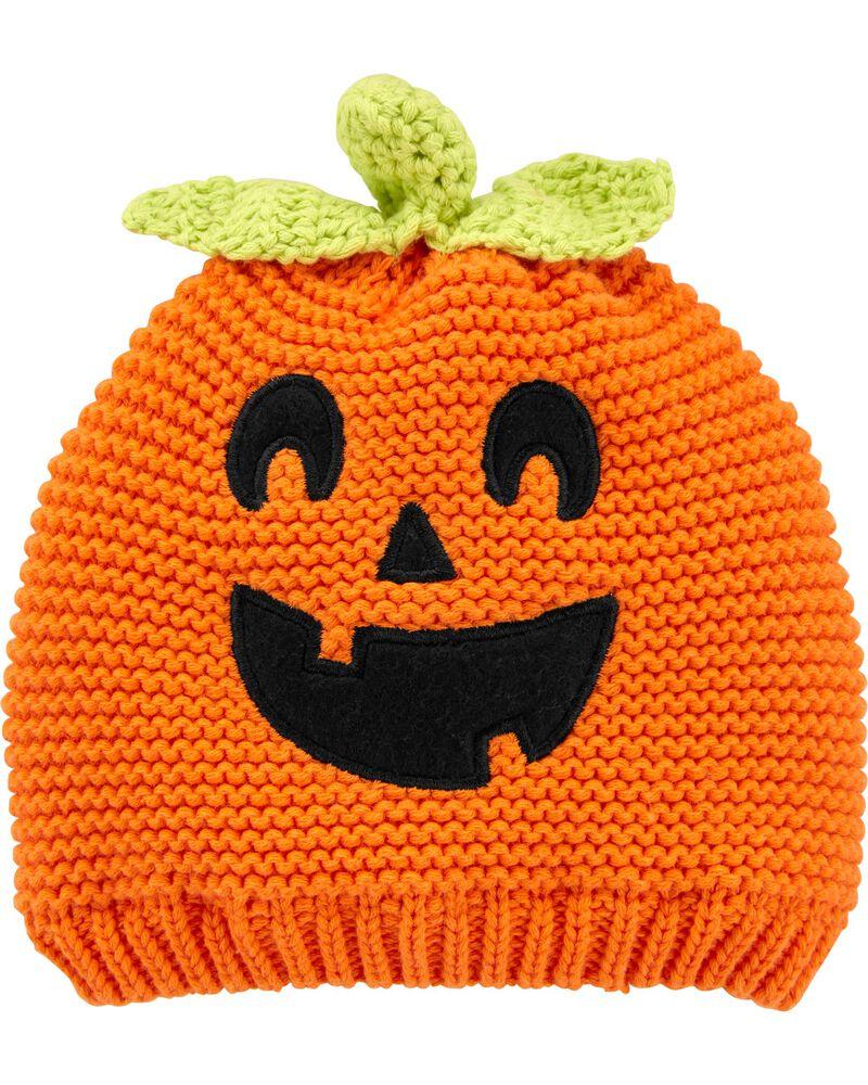 Halloween Jack-O-Lantern Crochet Hat, , hi-res