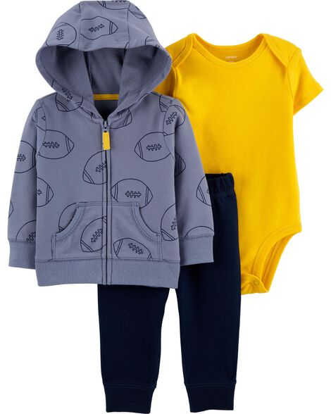 3-Piece Football Little Jacket Set
