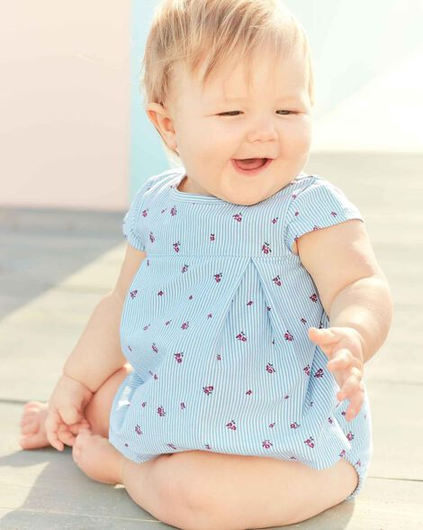 Striped Flower Sunsuit
