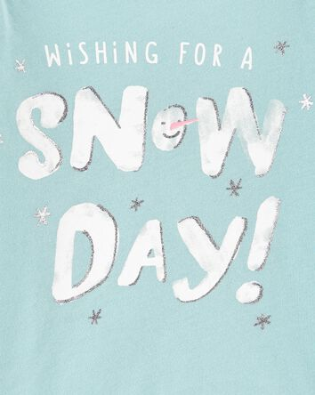 T-shirt en jersey Snow Day