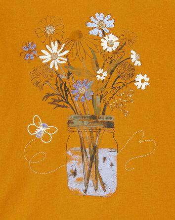 T-shirt à bouquet scintillant