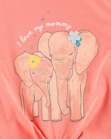 T-shirt en jersey à éléphant