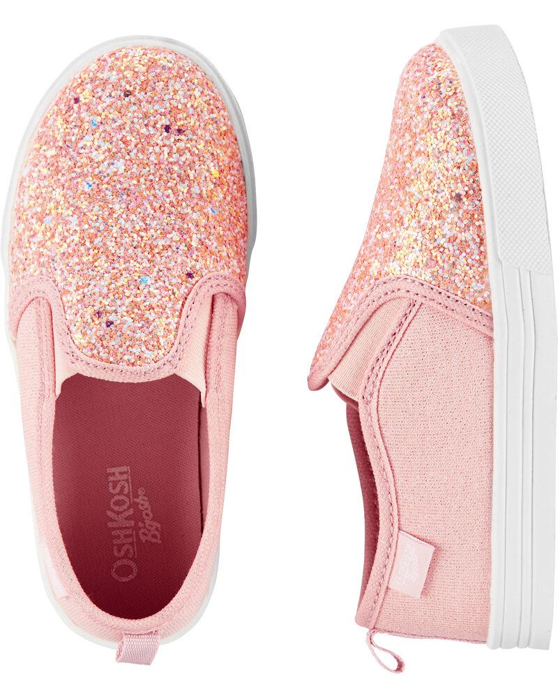 Chaussures à enfiler Oshkosh rose scintillant, , hi-res