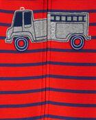 1-Piece Firetruck 100% Snug Fit Cotton Footie PJs, , hi-res