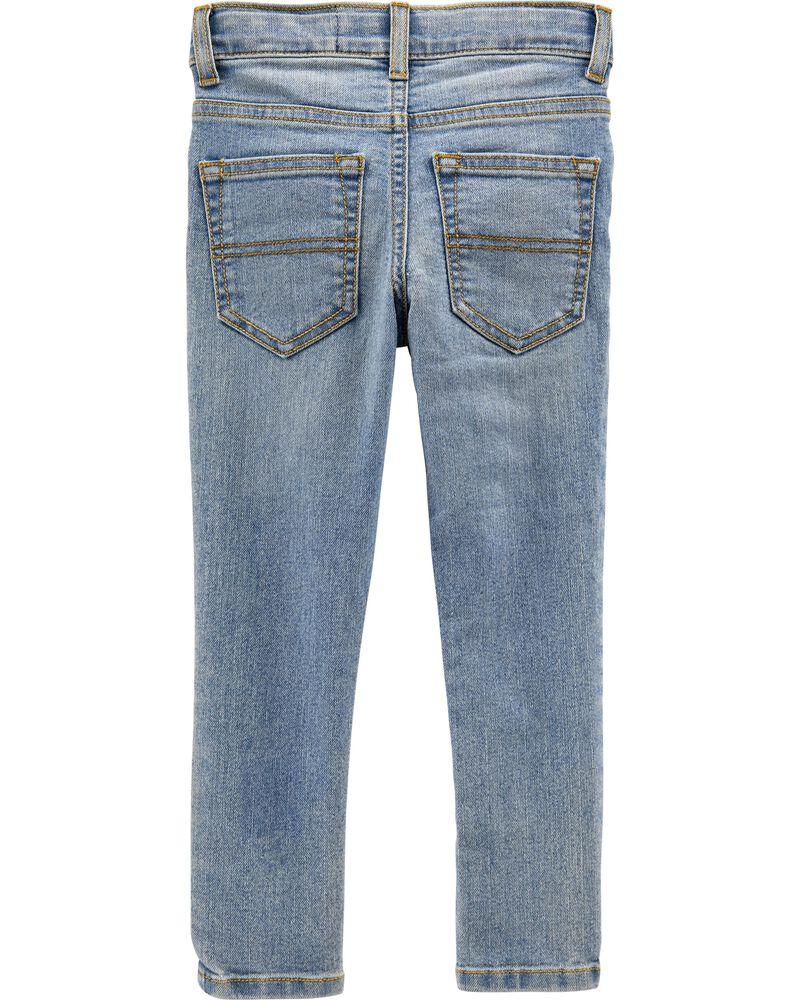 Regular Fit Skinny Jeans - Sun Faded Light Wash, , hi-res