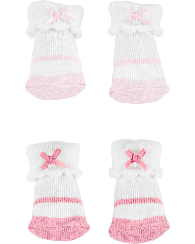 2 paires de chaussons pour bébé, , hi-res