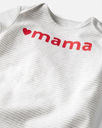 Organic Cotton Love Mama Bodysuit