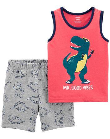 2-Piece Dino Tank & Short Set