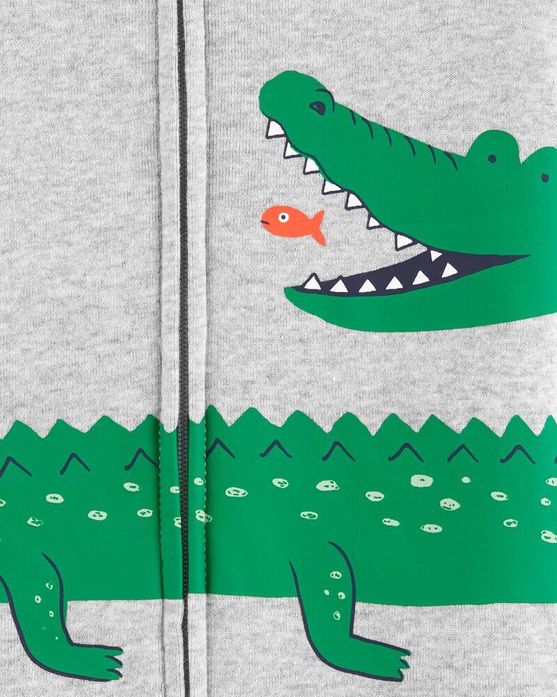 1-Piece Alligator 100% Snug Fit Cotton Romper PJs, , hi-res