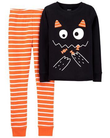 2-Piece Halloween Cat 100% Snug Fit...