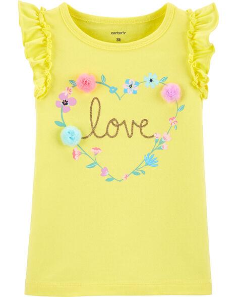 Glitter Love Flutter Tank