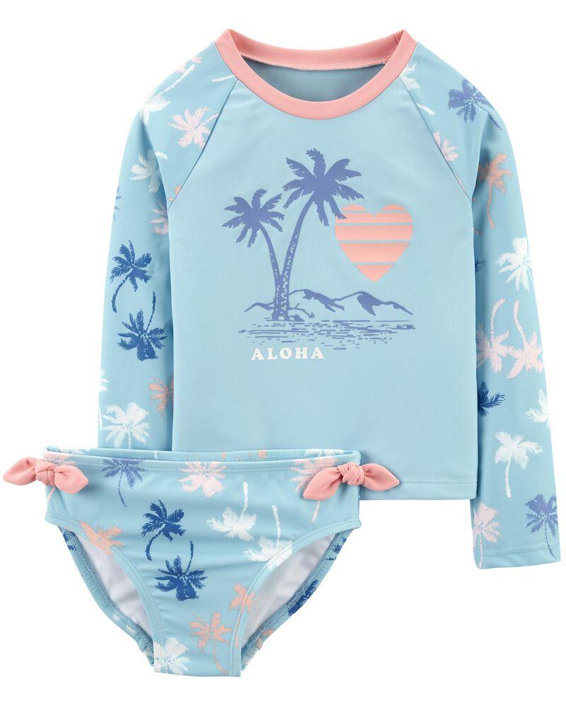 Maillot dermoprotecteur à palmiers Aloha, , hi-res