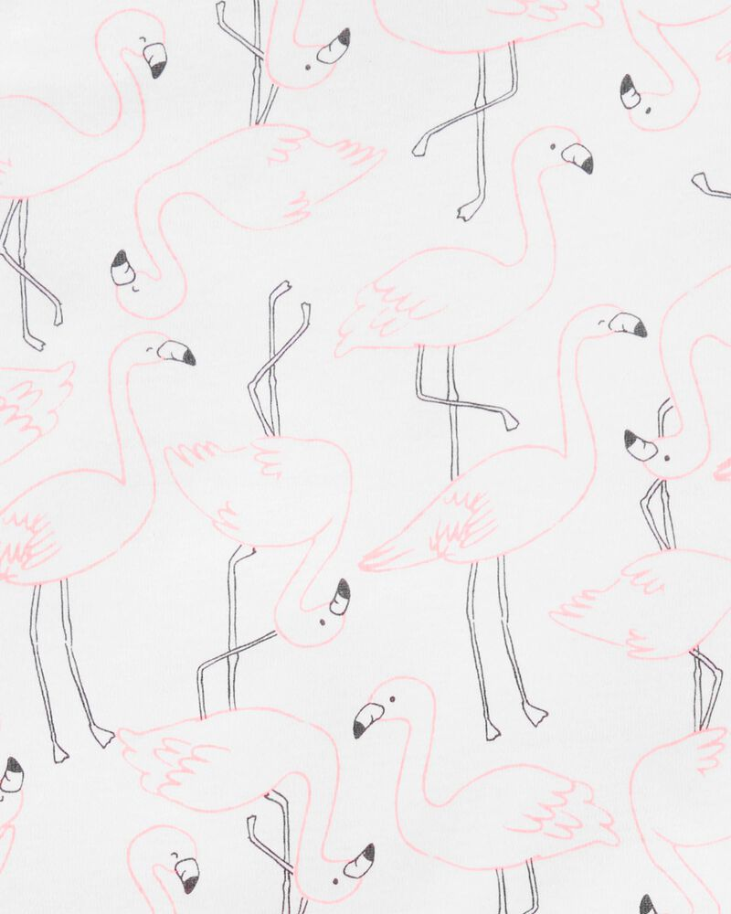 4-Piece Flamingo 100% Snug Fit Cotton PJs, , hi-res