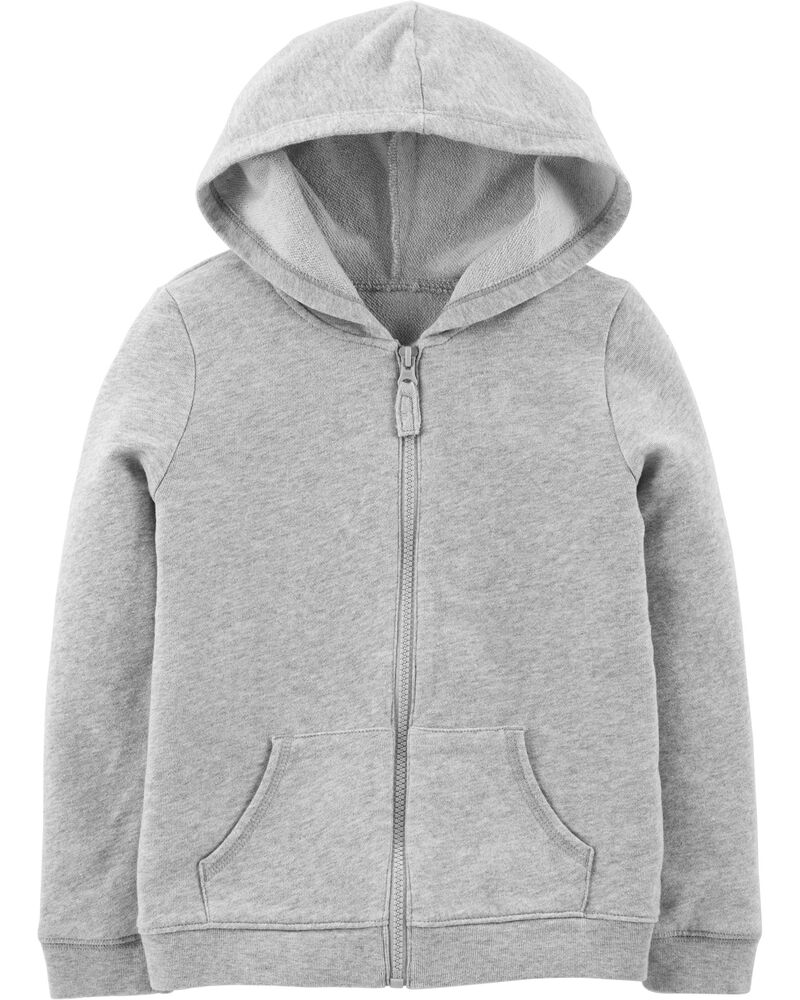 Zip-Up French Terry Hoodie, , hi-res
