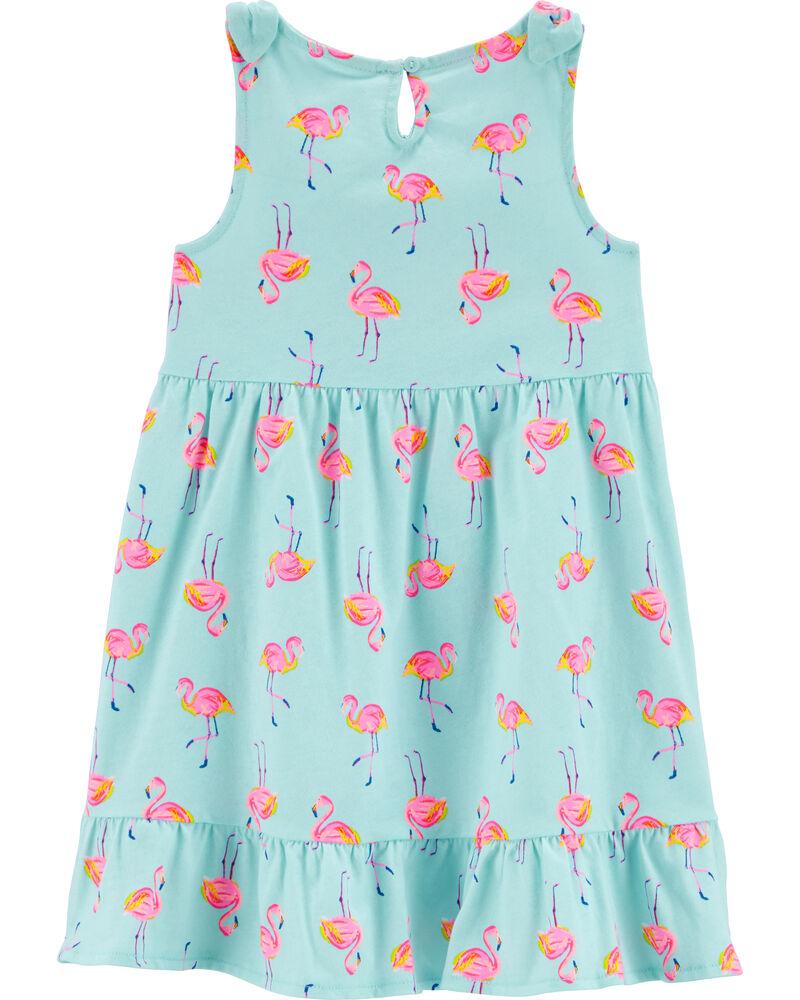 Flamingo Jersey Dress, , hi-res