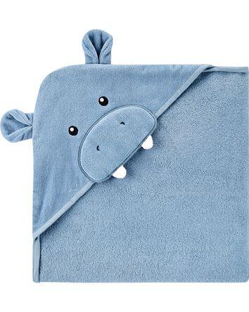 Serviette à capuchon à hippopotame