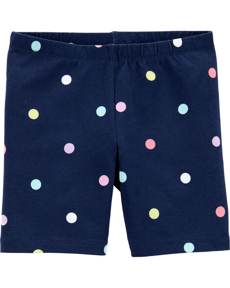 Short extensible à pois