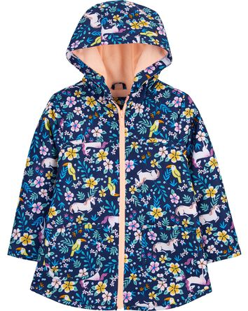 Tropical Unicorn Fleece-Lined Rain...