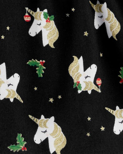 Holiday Unicorn Twill Top