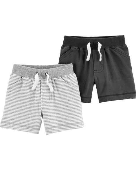2-Pack Pull-On Shorts