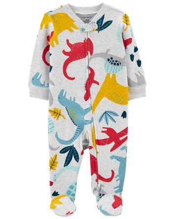 Dinosaur 2-Way Zip Cotton Sleep & P...