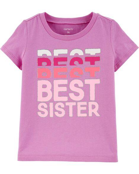 T-shirt en jersey scintillant Sister Vibes