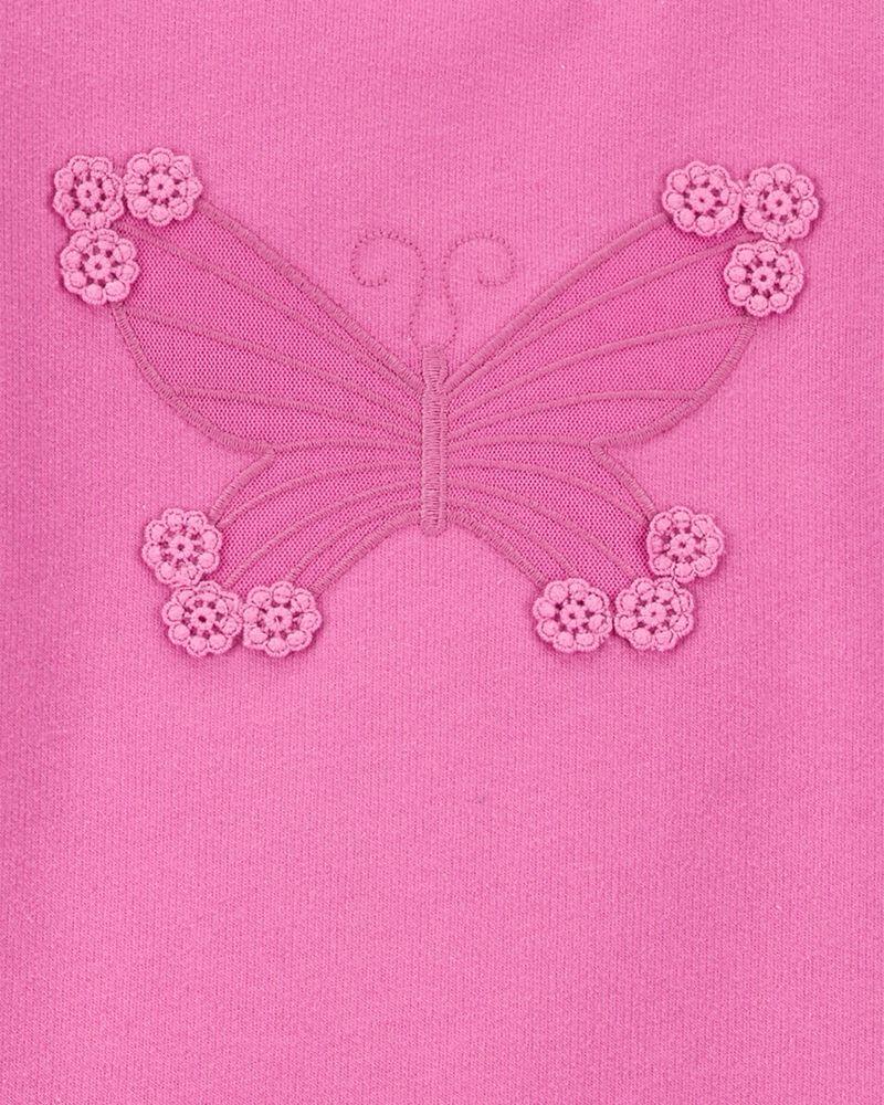 Ensemble 2 pièces haut à papillon et legging rayé, , hi-res