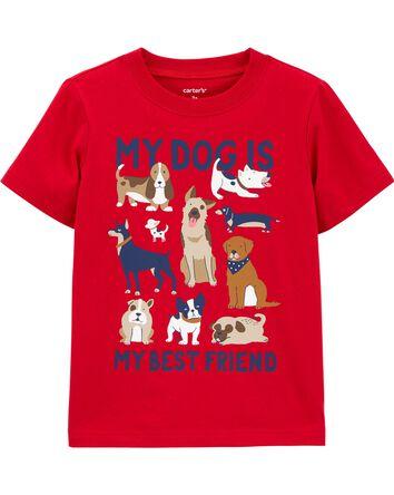 T-shirt en jersey à énoncé My Dog I...