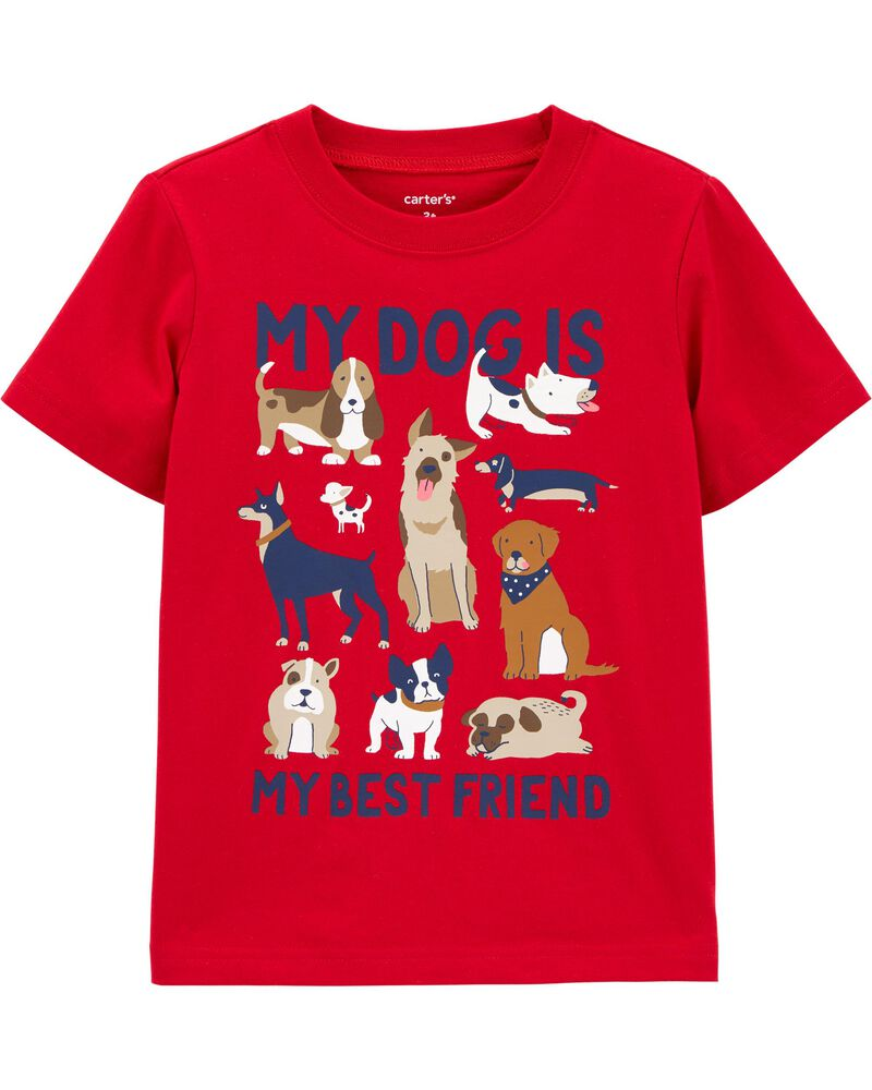 My Dog Is My Best Friend Jersey Tee, , hi-res
