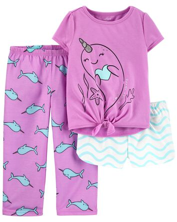 3-Piece Narwhal Loose Fit PJs