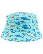 Chapeau cloche réversible à imprimé de requins, , hi-res