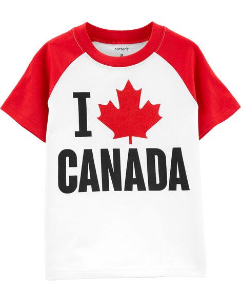 T-shirt à manches raglan I Love Canada