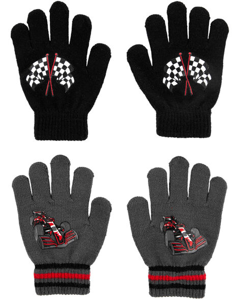 2 paires de gants voiture de course à paume antidérapante