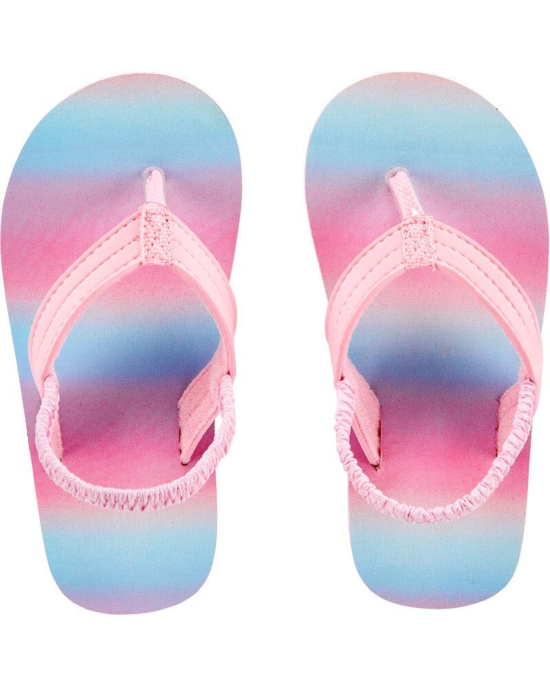 Sandales de plage à rayures arc-en-ciel, , hi-res